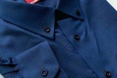 Blue-BrownDotsShirt-BKKBespoke